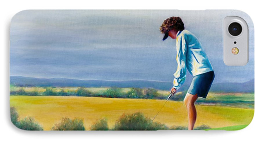 Golfer IPhone 7 Case featuring the painting Fairy Golf Mother by Shannon Grissom
