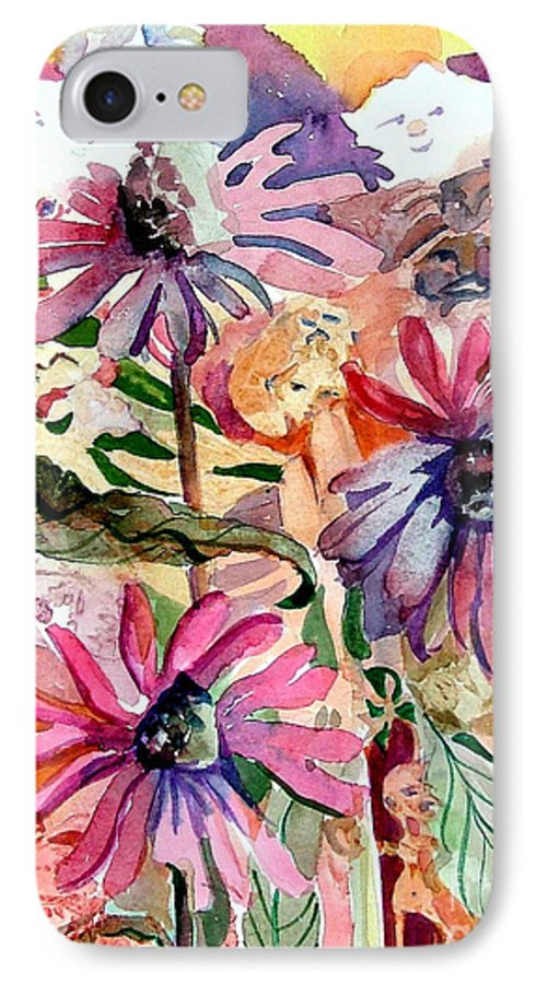 Daisy IPhone 7 Case featuring the painting Fairy Land by Mindy Newman