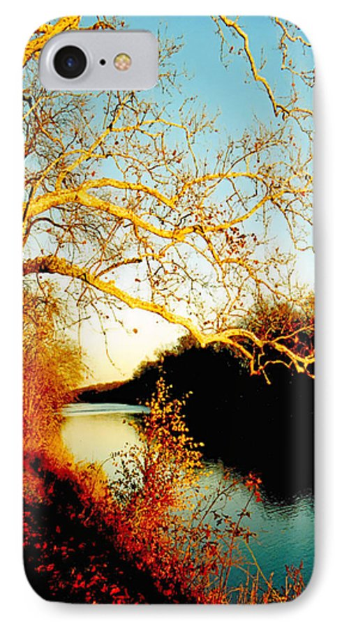 River IPhone 7 Case featuring the photograph Fall At The Raritan River In New Jersey by Christine Till