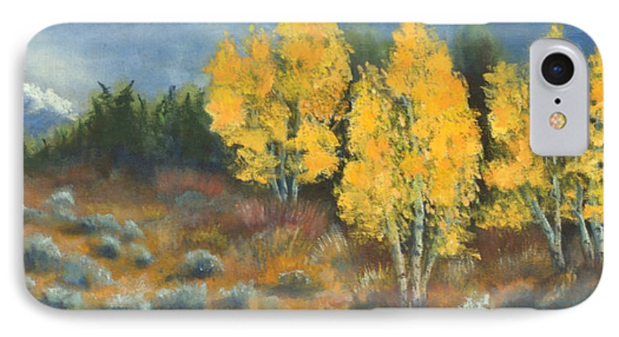Landscape IPhone 7 Case featuring the painting Fall Delight by Jerry McElroy