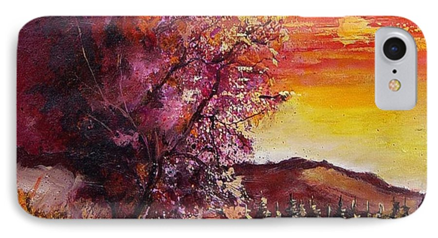 Autumn IPhone 7 Case featuring the painting Fall In Villers by Pol Ledent
