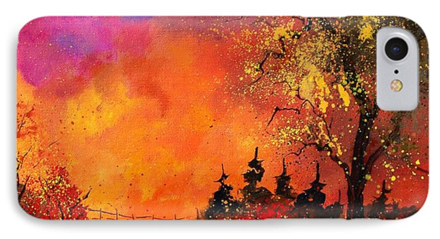River IPhone 7 Case featuring the painting Fall by Pol Ledent