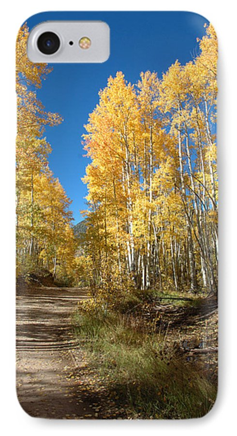 Landscape IPhone 7 Case featuring the photograph Fall Road by Jerry McElroy