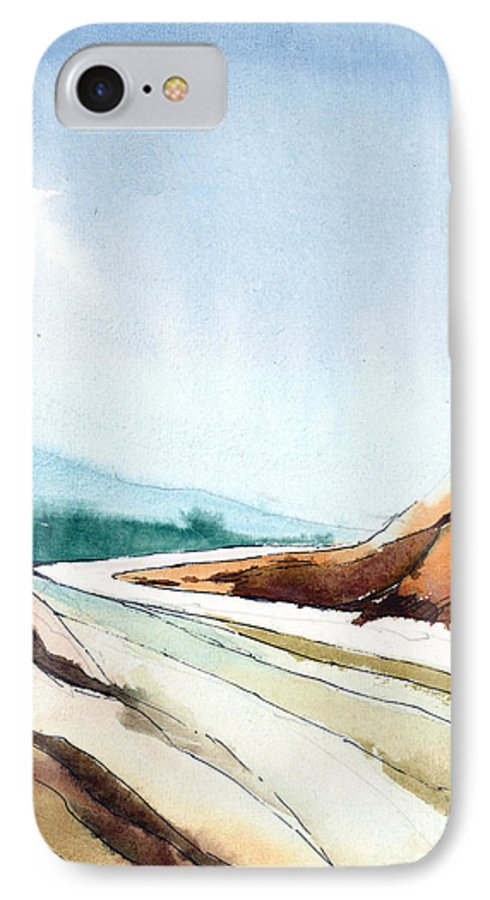 Landscape IPhone 7 Case featuring the painting Far Away by Anil Nene