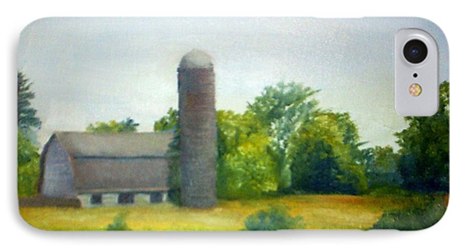 Farm IPhone 7 Case featuring the painting Farm In The Pine Barrens by Sheila Mashaw