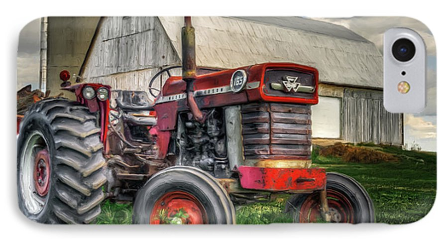Canada IPhone 7 Case featuring the photograph Farm Scene - Painting by Garvin Hunter