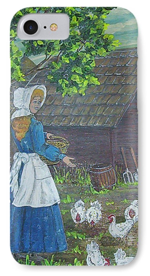Barn IPhone 7 Case featuring the painting Farm Work I by Phyllis Mae Richardson Fisher