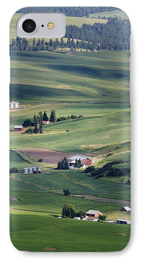 Fertile IPhone 7 Case featuring the photograph Farmland In Eastern Washington State by Carl Purcell