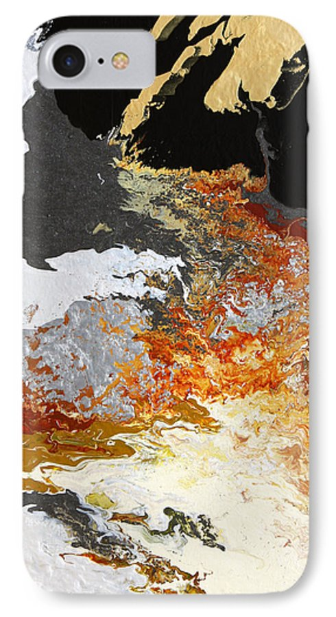 Fusionart IPhone 7 Case featuring the painting Fathom by Ralph White