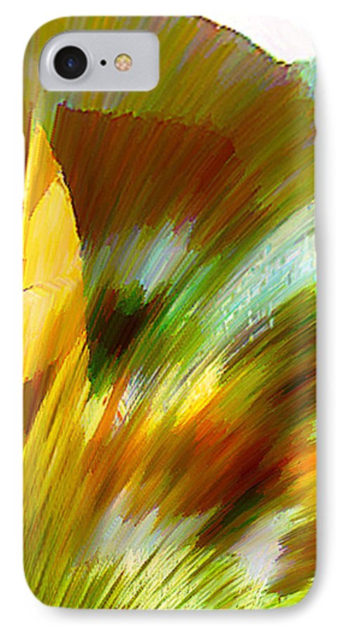 Landscape Digital Art Watercolor Water Color Mixed Media IPhone 7 Case featuring the digital art Feather by Anil Nene