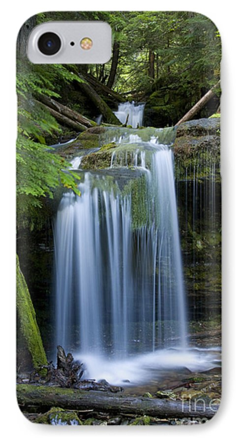 Waterfalls IPhone 7 Case featuring the photograph Fern Falls by Idaho Scenic Images Linda Lantzy