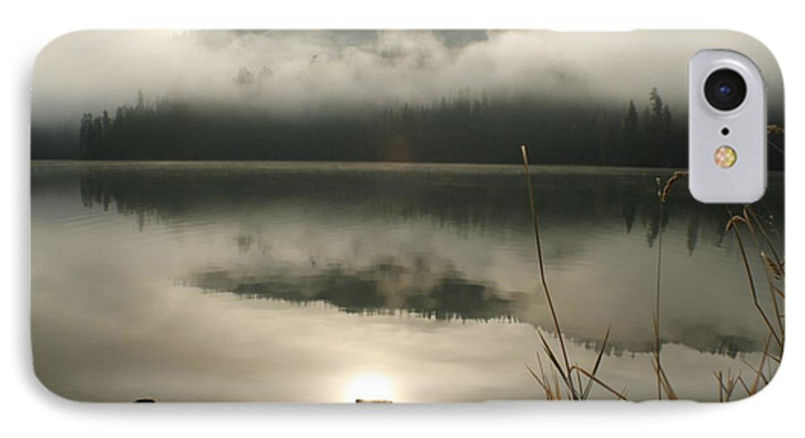 Mist IPhone 7 Case featuring the photograph Fernan Fog by Idaho Scenic Images Linda Lantzy