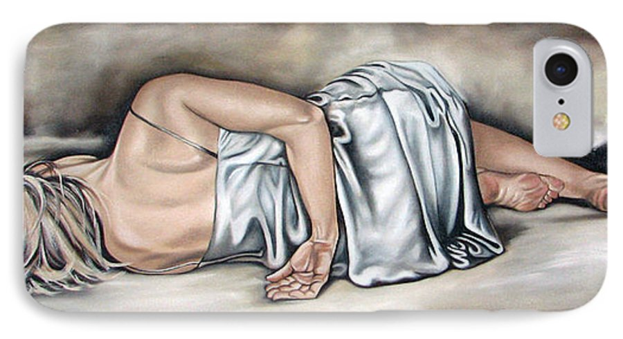 Figure IPhone 7 Case featuring the painting Figure Fourty Two Of Eight by Ilse Kleyn
