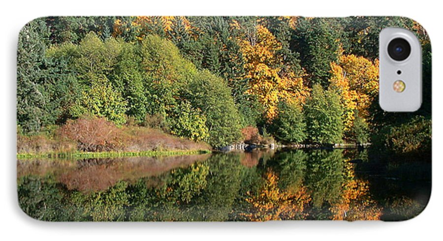 Fall IPhone 7 Case featuring the photograph Final Reflection by Larry Keahey