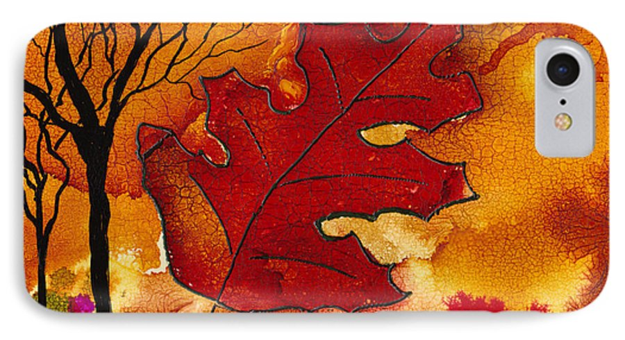 Fire IPhone 7 Case featuring the painting Firestorm by Susan Kubes
