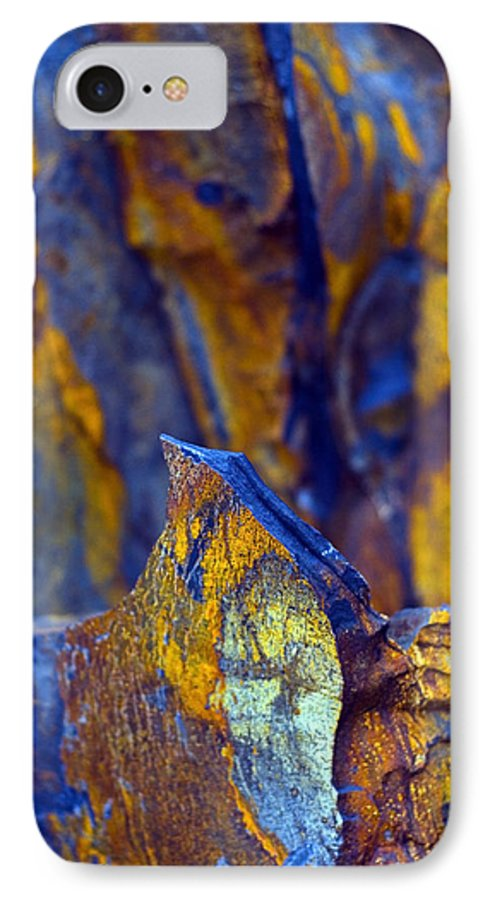 Texture IPhone 7 Case featuring the photograph First Cut Is The Deepest by Skip Hunt