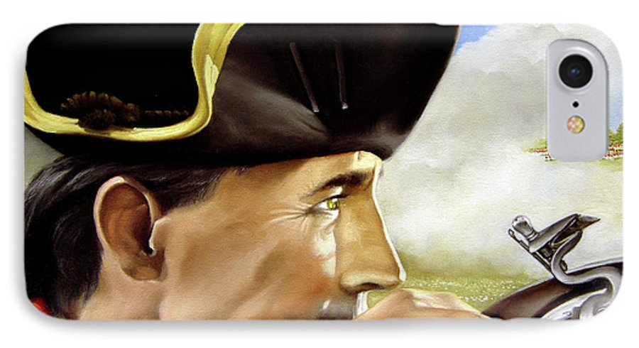 Continental IPhone 7 Case featuring the painting First To Fight by Marc Stewart