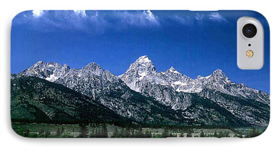 Mountains IPhone 7 Case featuring the photograph First View Of Tetons by Kathy McClure