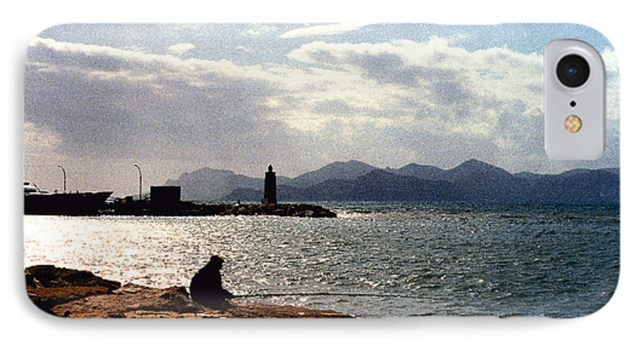 Fisherman IPhone 7 Case featuring the photograph Fisherman In Nice France by Nancy Mueller
