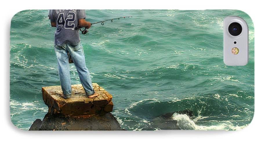 Americana IPhone 7 Case featuring the photograph Fisherman by Marilyn Hunt