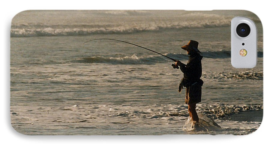 Fisherman IPhone 7 Case featuring the photograph Fisherman by Steve Karol