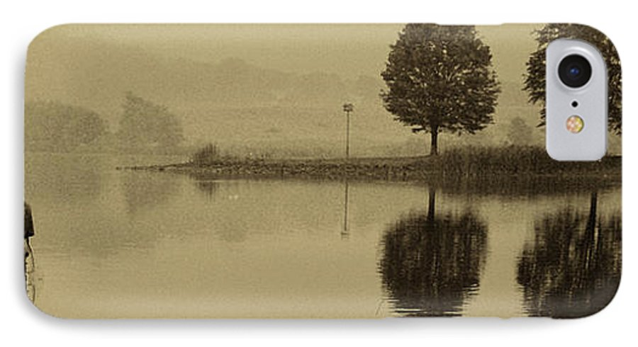 Fishing IPhone 7 Case featuring the photograph Fishing At Marsh Creek State Park Pa. by Jack Paolini