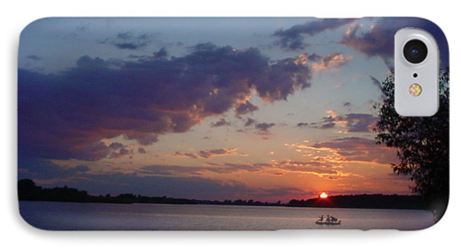 St.lawrence River IPhone 7 Case featuring the photograph Fishing On The St.lawrence River. by Jerrold Carton
