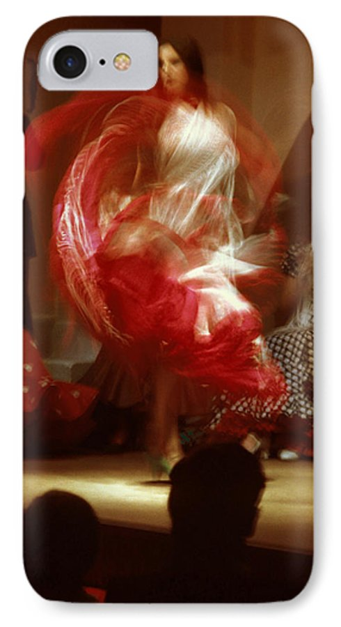 Spain IPhone 7 Case featuring the photograph Flamenco Dancer In Seville by Carl Purcell