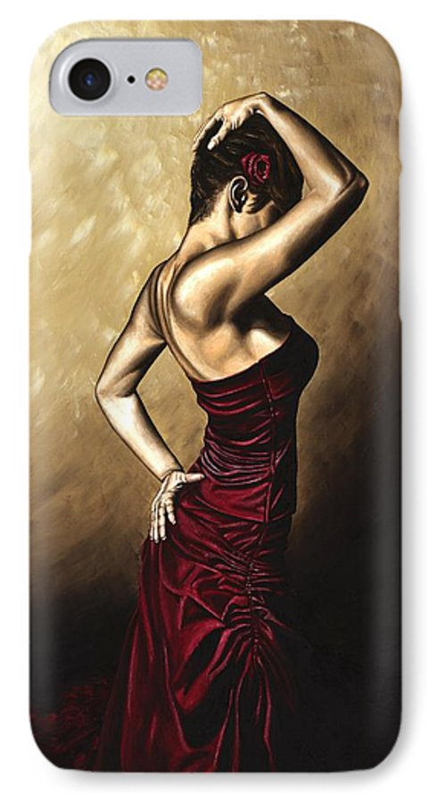 Flamenco IPhone 7 Case featuring the painting Flamenco Woman by Richard Young