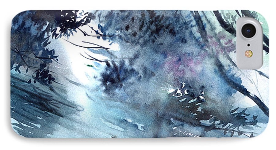 Floods IPhone 7 Case featuring the painting Flooding by Anil Nene