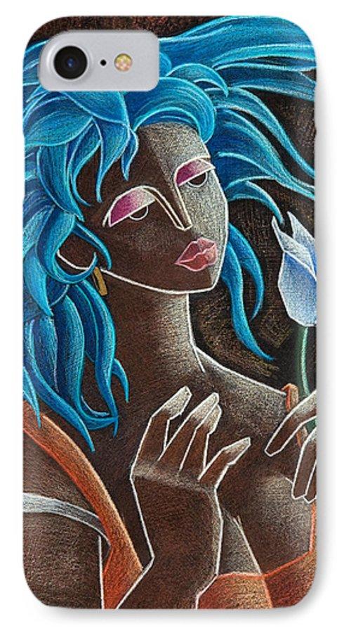 Puerto Rico IPhone 7 Case featuring the painting Flor Y Viento by Oscar Ortiz