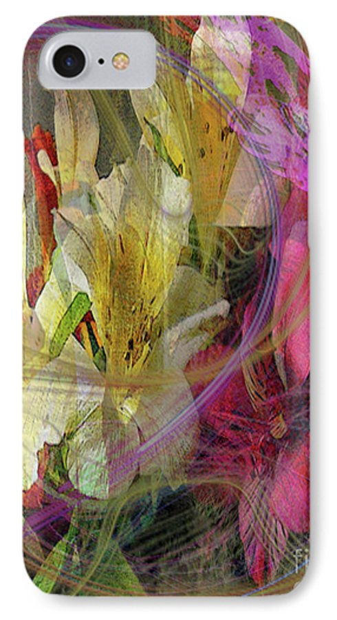 Floral Inspiration IPhone 7 Case featuring the digital art Floral Inspiration by John Beck