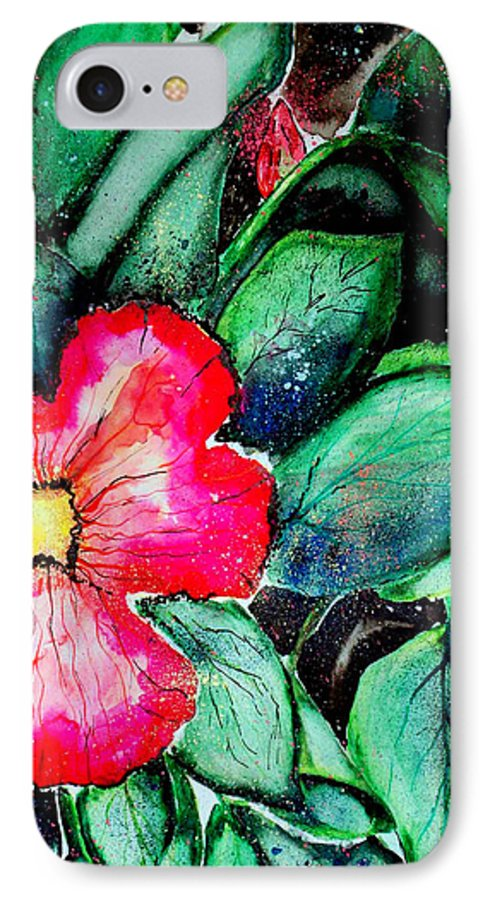 Exotic IPhone 7 Case featuring the photograph Florida Flower by Margaret Fortunato