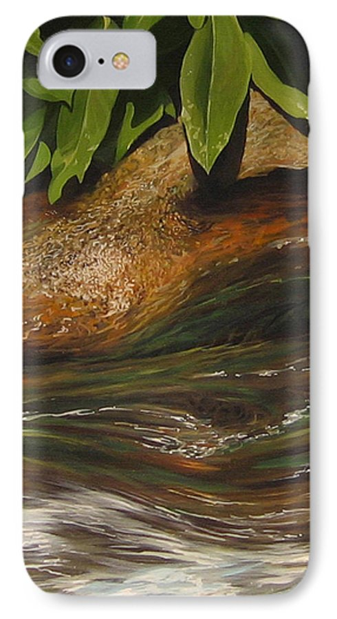 Colorado Mountain Stream IPhone 7 Case featuring the painting Flow by Hunter Jay