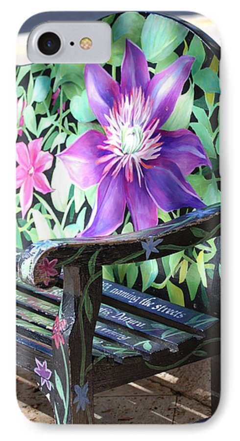 Macro IPhone 7 Case featuring the photograph Flower Bench by Rob Hans