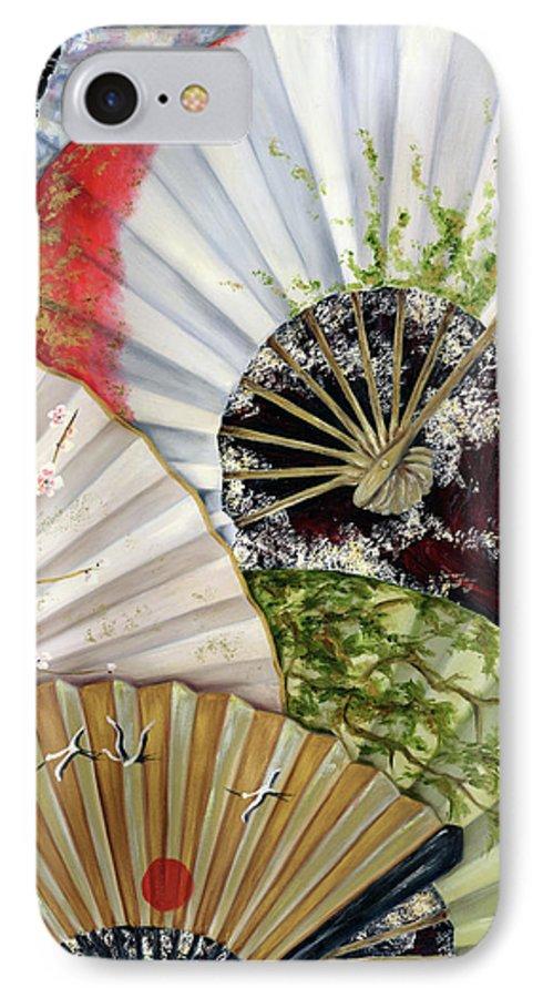 Japanese IPhone 7 Case featuring the painting Flower Garden by Hiroko Sakai