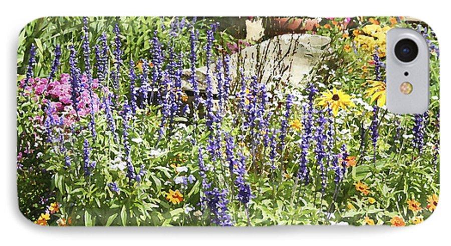 Flower IPhone 7 Case featuring the photograph Flower Garden by Margie Wildblood