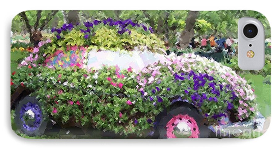 Cars IPhone 7 Case featuring the photograph Flower Power by Debbi Granruth
