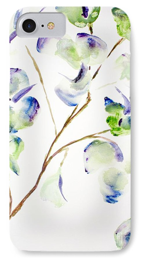 Flower IPhone 7 Case featuring the painting Flower by Shelley Jones
