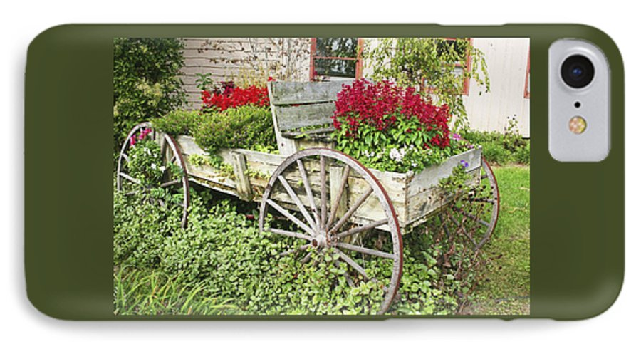 Wagon IPhone 7 Case featuring the photograph Flower Wagon by Margie Wildblood