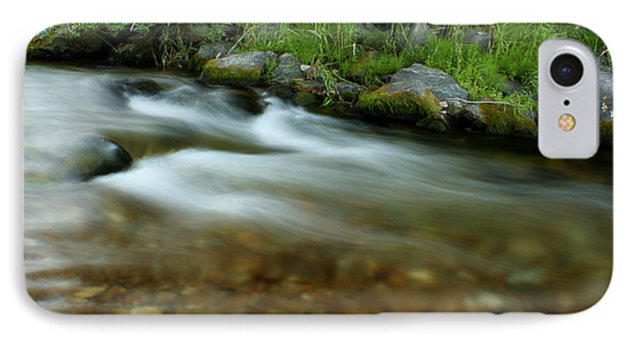River IPhone 7 Case featuring the photograph Flowing by Idaho Scenic Images Linda Lantzy