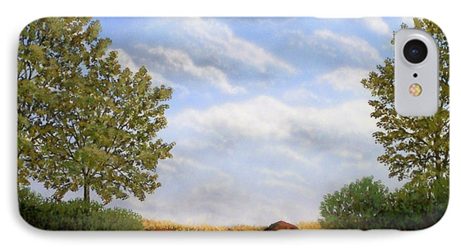 Landscape IPhone 7 Case featuring the painting Foothills Afternoon by Frank Wilson