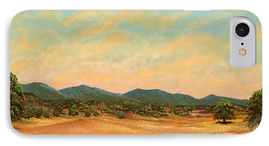 Landscape IPhone 7 Case featuring the painting Foothills by Frank Wilson