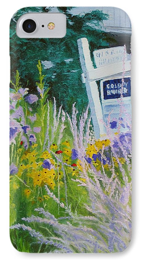 Landscape IPhone 7 Case featuring the painting For Sale - A Patch Of Paradise by Lea Novak