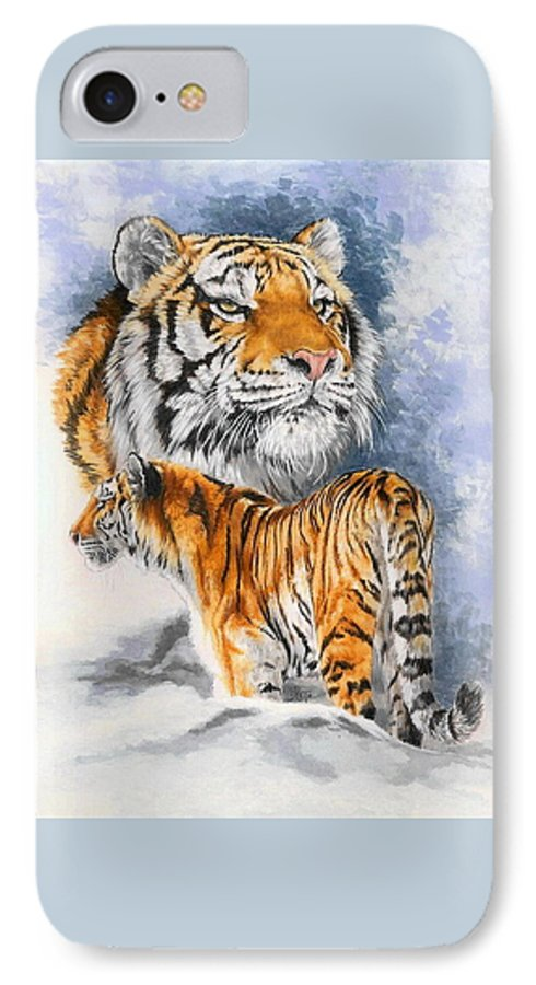 Big Cats IPhone 7 Case featuring the mixed media Forceful by Barbara Keith