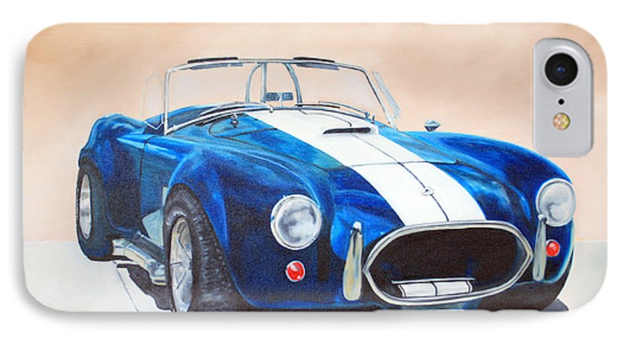 Car IPhone 7 Case featuring the painting Ford Cobra In Oil by Margaret Fortunato