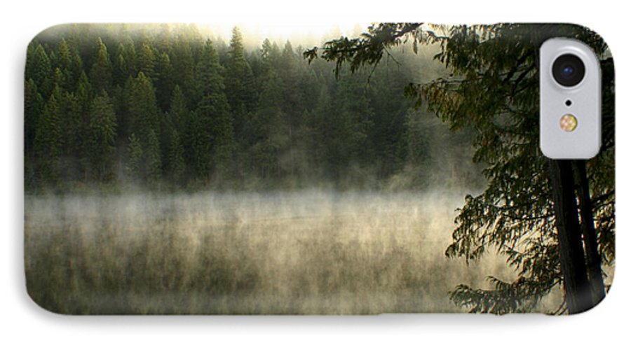 Fog IPhone 7 Case featuring the photograph Forest And Fog by Idaho Scenic Images Linda Lantzy