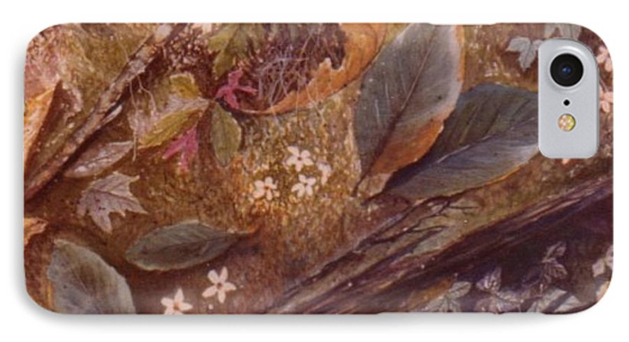 Leaves; Forest; Flowers IPhone 7 Case featuring the painting Forest Floor by Ben Kiger