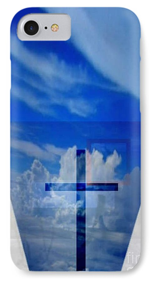 Inspirational IPhone 7 Case featuring the digital art Forever Settled by Brenda L Spencer