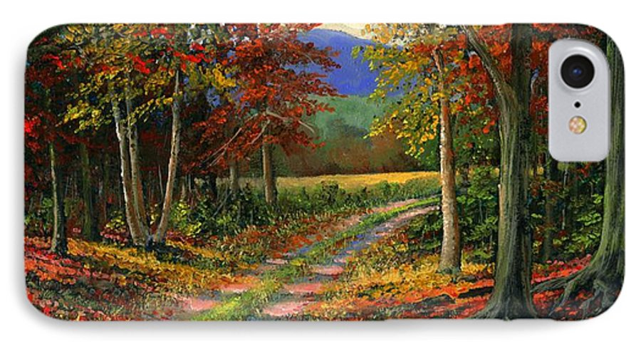Landscape IPhone 7 Case featuring the painting Forgotten Road by Frank Wilson